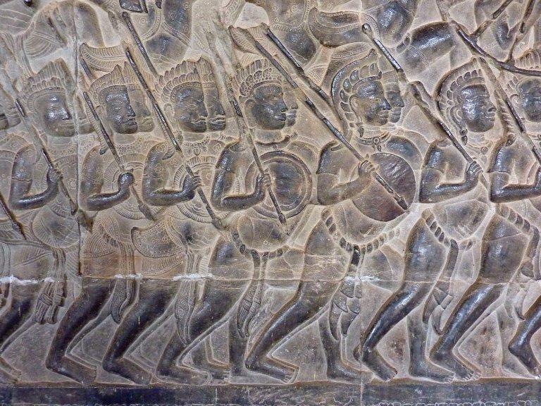 056 Mahabharata Warriors at Angkor Wat